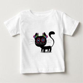 T-shirt Pour Bébé Jour mignon du chat mort
