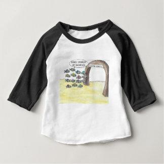 T-shirt Pour Bébé Jours d'école de guppy