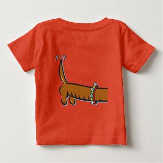 T-shirt Pour Bébé Joyeux Noël, teckel