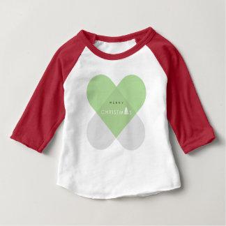 T-shirt Pour Bébé Joyeux Noël - vert
