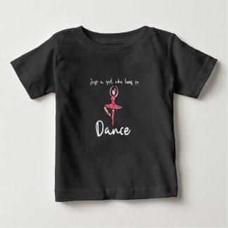 T-shirt Pour Bébé Juste une fille qui aime danser