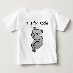 T-shirt Pour Bébé K est pour le koala