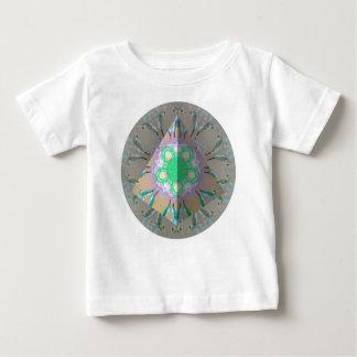 T-shirt Pour Bébé Kaléidoscope 3d d'oiseau de ronflement de triangle