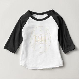 T-shirt Pour Bébé Karma (pour l'arrière - plan foncé)