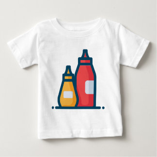 T-shirt Pour Bébé Ketchup et moutarde