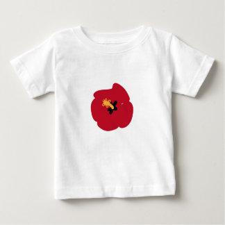 T-shirt Pour Bébé Ketmie de rouge d'été