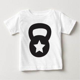 T-shirt Pour Bébé Kettlebell avec une étoile vide