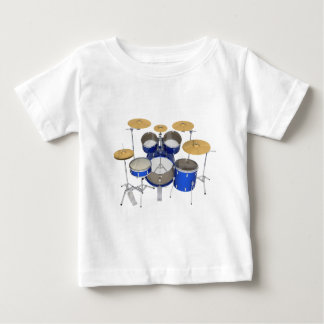 T-shirt Pour Bébé Kit bleu de tambour :