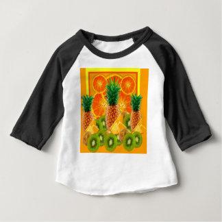 T-shirt Pour Bébé KIWI HAWAÏEN de TRANCHES d'ANANAS tropical et