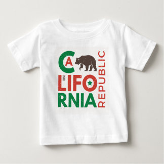 T-shirt Pour Bébé La Californie avec le logo d'ours gris