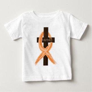 T-shirt Pour Bébé La croix du survivant orange de leucémie de la foi