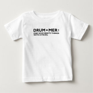 T-shirt Pour Bébé La définition d'un tambour de musique de batteur