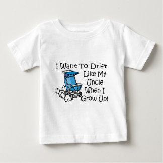 T-shirt Pour Bébé la dérive aiment mon oncle
