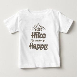 T-shirt Pour Bébé La hausse et soit heureuse