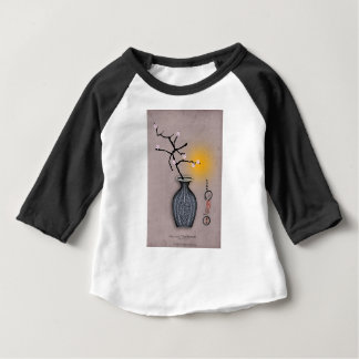 T-shirt Pour Bébé la lune élégante des fernandes et la fleur de 7
