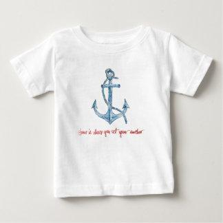 T-shirt Pour Bébé La maison est où vous placez votre ancre