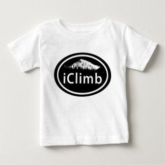 """T-shirt Pour Bébé La montagne ovale s'élevante de """"iClimb"""""""