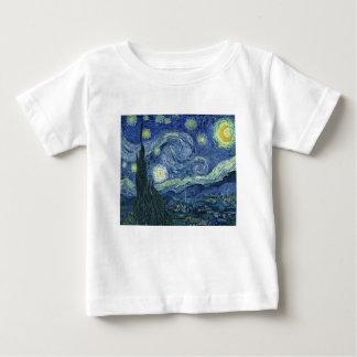 T-shirt Pour Bébé La Nuit Etoilée de Van Gogh (The Starry Night)