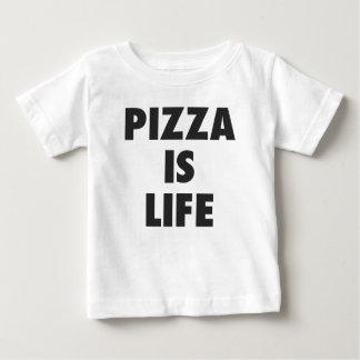 T-shirt Pour Bébé La pizza drôle est copie d'aliments de préparation