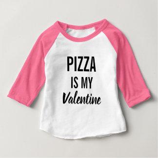 T-shirt Pour Bébé La pizza est mon Valentine