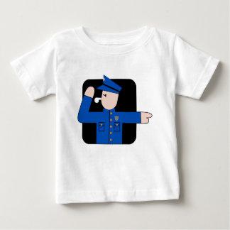 T-shirt Pour Bébé La police équipe