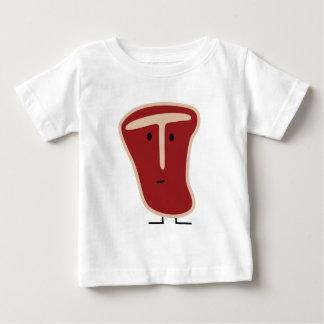 T-shirt Pour Bébé La protéine de viande de bifteck à l'os a grillé