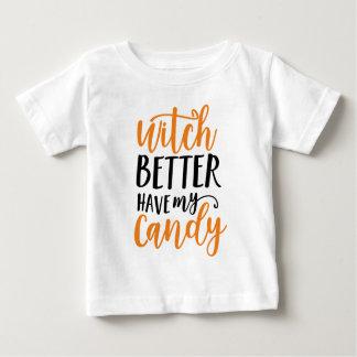 T-shirt Pour Bébé La sorcière meilleure prennent ma sucrerie