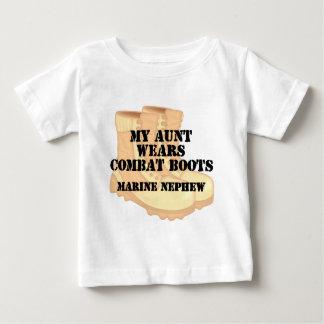 T-shirt Pour Bébé La tante marine de neveu utilise le bloc de