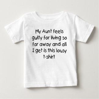 T-shirt Pour Bébé La tante vit loin