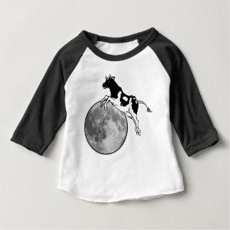 T-shirt Pour Bébé La vache sautant par-dessus la lune