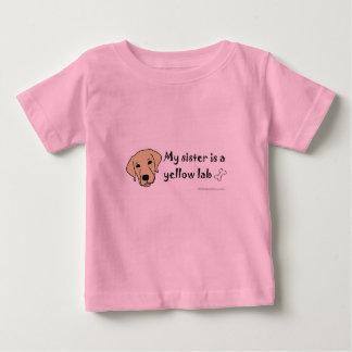 T-shirt Pour Bébé laboratoire jaune