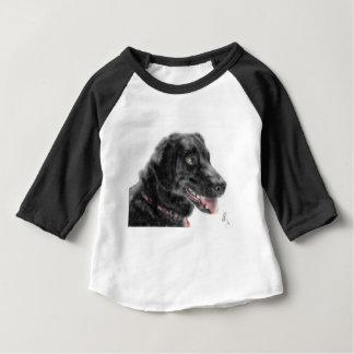 T-shirt Pour Bébé Labrador noir