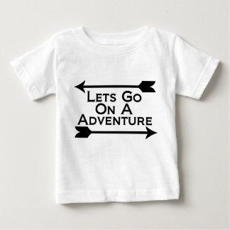 T-shirt Pour Bébé Laisse aller sur une région sauvage de nature