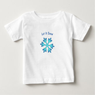 T-shirt Pour Bébé Laissez lui neiger avec les flocons de neige 3D