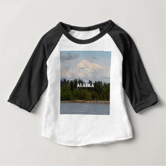 T-shirt Pour Bébé L'Alaska : Denali, forêt, rivière, montagnes,