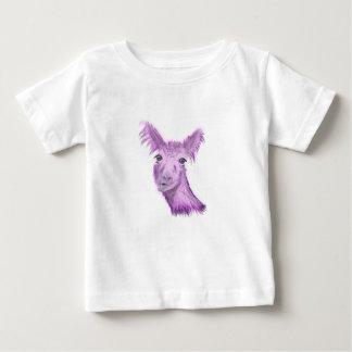 T-shirt Pour Bébé Lama snob rosâtre