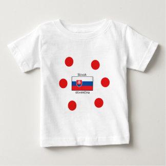 T-shirt Pour Bébé Langue et conception slovaques de drapeau de la