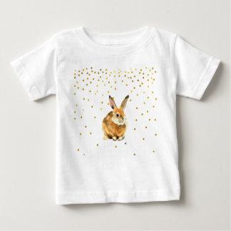 T-shirt Pour Bébé Lapin en pois d'un or de douche