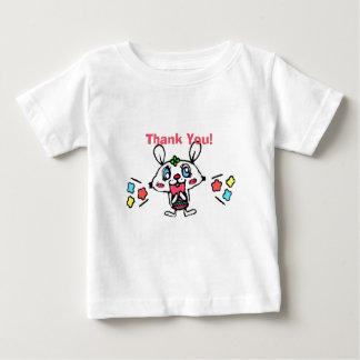 T-shirt Pour Bébé Lapin heureux de Merci