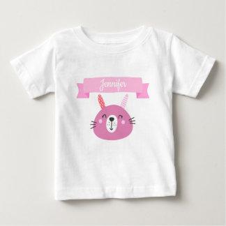 T-shirt Pour Bébé Lapin rose mignon | de bébé personnalisé