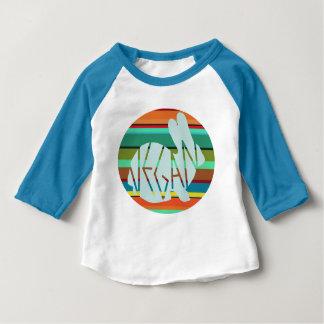 T-shirt Pour Bébé Lapin végétalien rayé