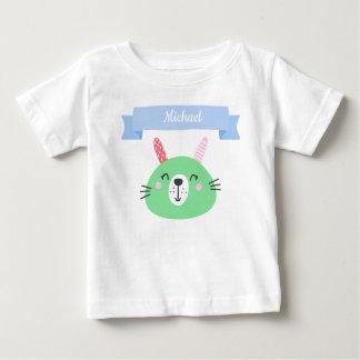 T-shirt Pour Bébé Lapin vert mignon | de bébé personnalisé