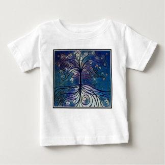 T-shirt Pour Bébé L'arbre de la collection de la vie - minuit