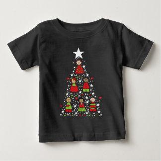T-shirt Pour Bébé L'arbre de Noël de bande dessinée badine le