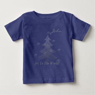 T-shirt Pour Bébé L'arbre de Noël fait sur commande tient le premier