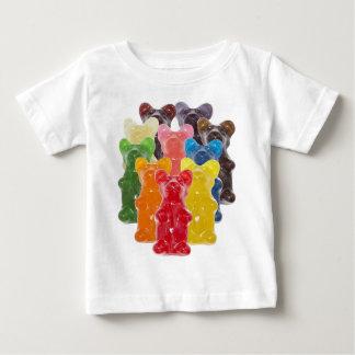 T-shirt Pour Bébé l'arc-en-ciel colore l'ours gommeux d'amant de