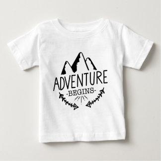 T-shirt Pour Bébé L'aventure commence