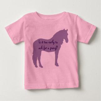 T-shirt Pour Bébé Le bébé pourpre veut le poney