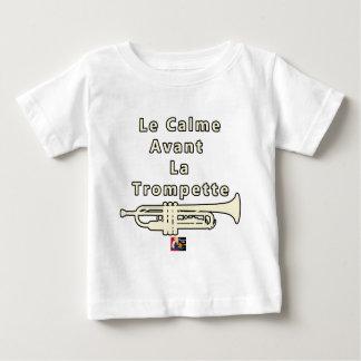 T-shirt Pour Bébé Le Calme avant la Trompette - Jeux de Mots