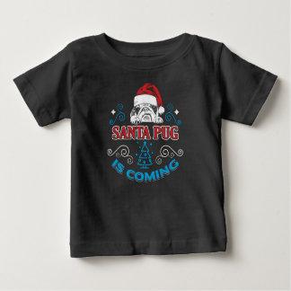 T-shirt Pour Bébé Le carlin frais de Père Noël est prochaine idée de